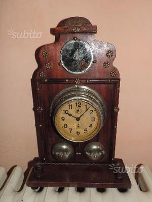 Pendola primi 900 orologio da tavolo antico posot class for Orologio da tavolo legno