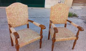 Coppia di sedie Trono in legno, da rivedere