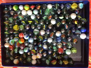 Gioco biglie in vetro vari colori e dimensioni
