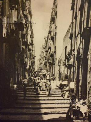 Napoli S. Lucia cartolina Alinari V del Pallonetto
