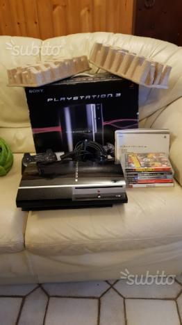 Ps3 playstation 3 con scatola e giochi e joypad