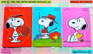 SNOOPY Peanuts VINTAGE  MAXI ADESIVI Stickers
