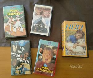 Lotto videocassette vhs vari titoli da collezione