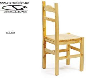 sedie in arte povera in legno massello pino