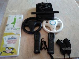 Nintendo Wii completa più pedana WI fit più volant