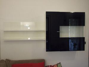 Mensola con vetrina porta liquori posot class - Mappamondo porta liquori ...