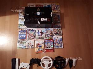 Wii nera con giochi e tanto altro inclusi