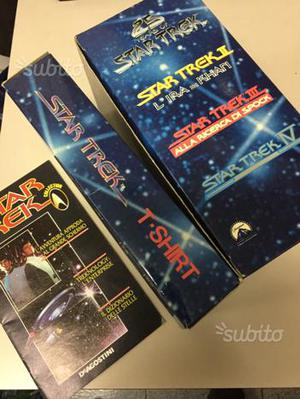 5 VHS STAR TREK PRIMI 4 film originali special