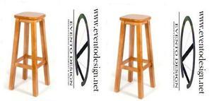 Sgabelli in legno con sedile legno, cod bar nuovi h,80
