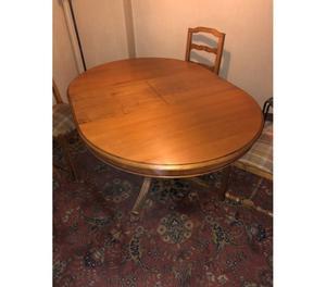 Tavolo tondo allungabile con 4 sedie