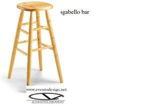 Sgabelli in legno con sedile legno per arredo pub arredo