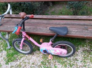 Bicicletta bambina rosa 14'' decathlon