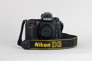 Corredo Nikon D3 + obiettivi + flash