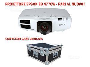 Videoproiettore epson eb w + flight case nuovo
