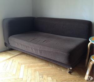 coppia di divani in tessuto componibili in linea o angolari