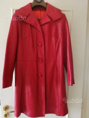 Cappotto vintage pelle anni 60 donna taglia L