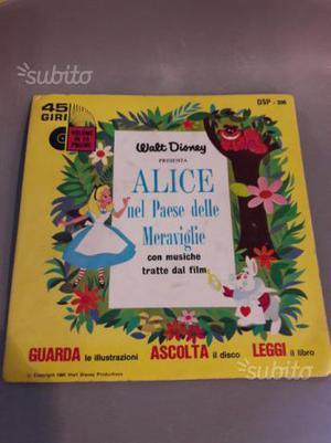 Disco 45 giri Alice nel Paese delle Meraviglie