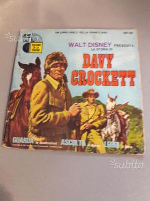 Disco libro 45 giri walt disney daft crockett
