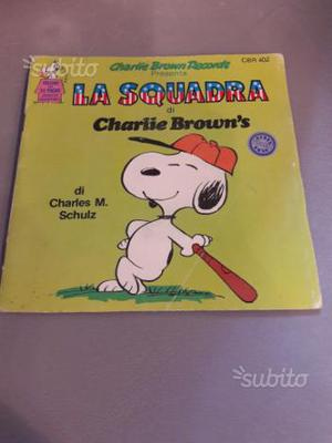 Disco libro45 giri vinile Charlie Brown Snoopy