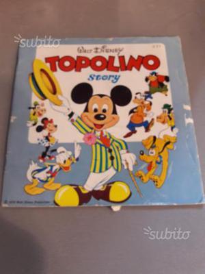 Disco vinile 45 giri walt Disney Topolino story