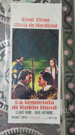 Locandina d'epoca film La leggenda di Robin Hood