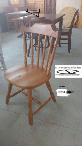 Sedie old america in legno di pino massello. Ideale per