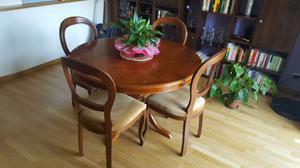 Tavolo rotondo + 4 sedie