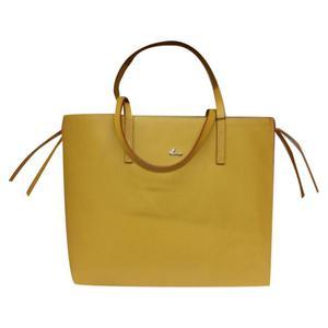 borsa in pelle giallo