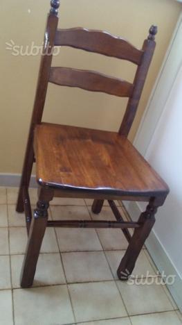 6 sedie legno massello