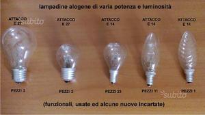 Lampadine alogene varie per totale 40 pz
