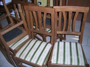 Sei sedie in legno massello