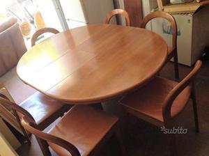 Tavolo da salone allungabile con 6 sedie