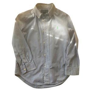 camicia a righe bianca e blu, polo ralph lauren,5anni