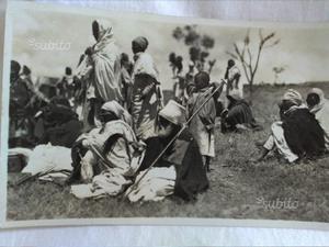 Cartolina di indigeni dell'Eritrea originale n v