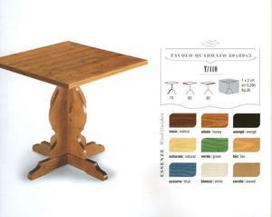 Tavolo in legno massello per agriturismo per ristorane e