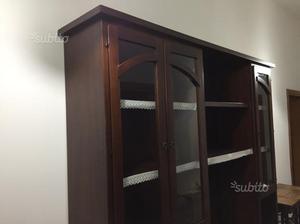 Credenza Con Piattaia Legno : Credenza alta piattaia legno arte classica posot class