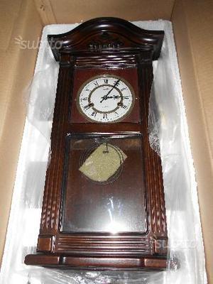 Orologio a pendolo in legno - nuovo e imballato