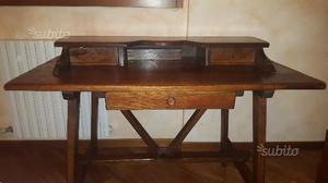 Scrivania/scrittoio arte povera in legno massello