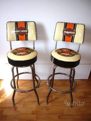 Harley Davidson coppia di sgabelli originali