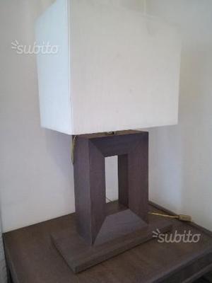Lampada moderna legno by Natuzzi