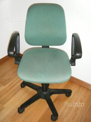 Sedia da Ufficio Casa a 5 Ruote con Braccioli