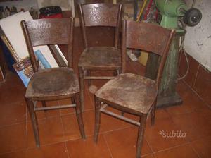 6 x vecchie sedie da osteria posot class for Sedie osteria usate