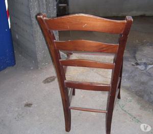 vendo n, 17 sedie in legno impagliate