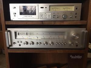 Lenco / Scott hifi casse vintage