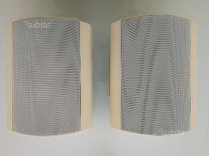 Monacor eul-60/ws coppia casse acustiche bianco