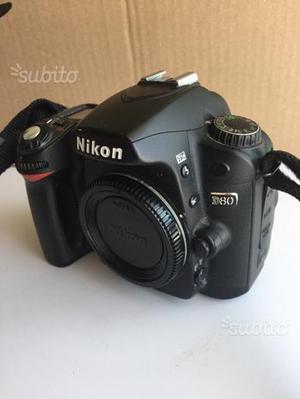 Nikon d80 corpo con scatola e accessori