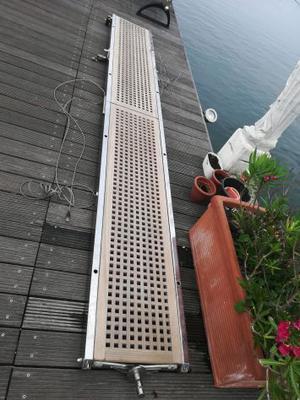 Passerella in acciao e teak per yacht 4m