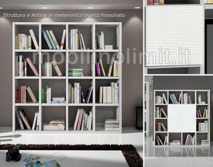 Libreria a Giorno Bianco Frassinato (175) - Nuovo