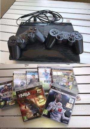 PS3 Slim + 2 joystick + giochi