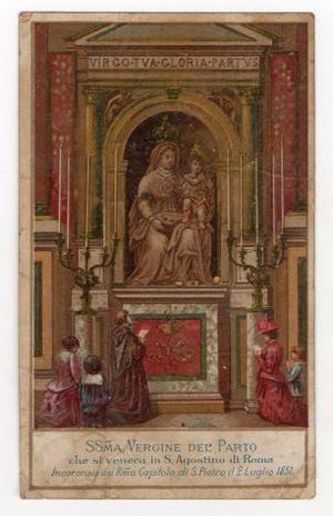Santino della Santissima Vergine del Parto che si venera in